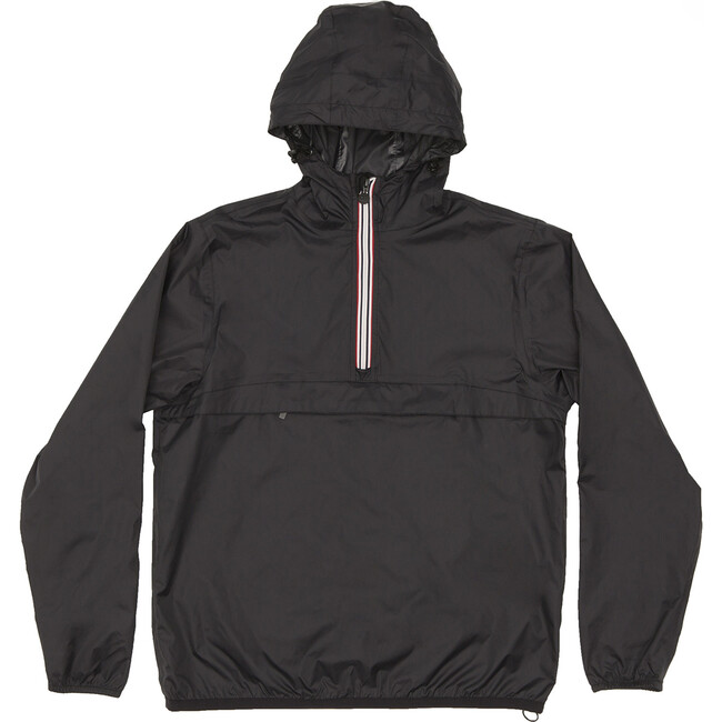 Adult Unisex Alex Packable Rain Jacket, Black - Raincoats - 1