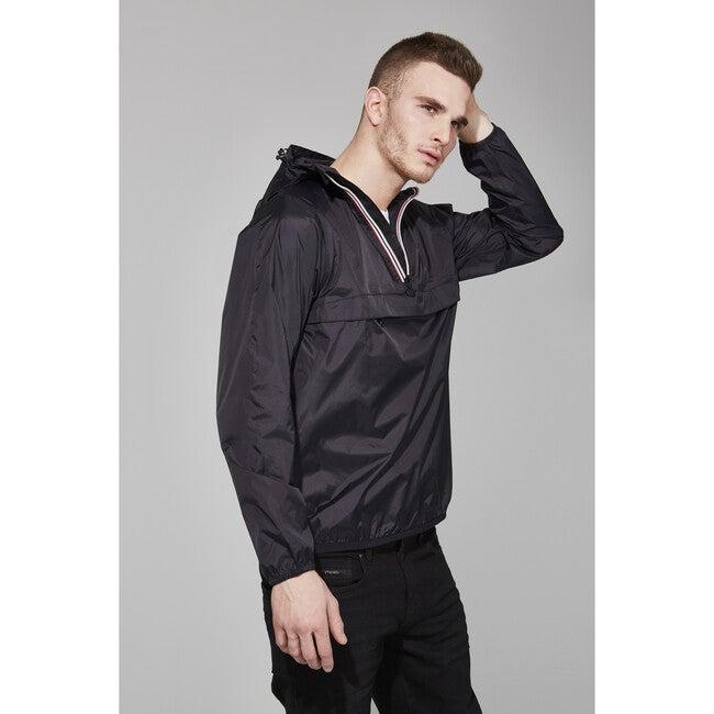 Adult Unisex Alex Packable Rain Jacket, Black