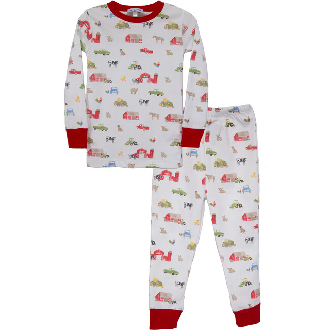 Farm Print Two Piece Pajama Set