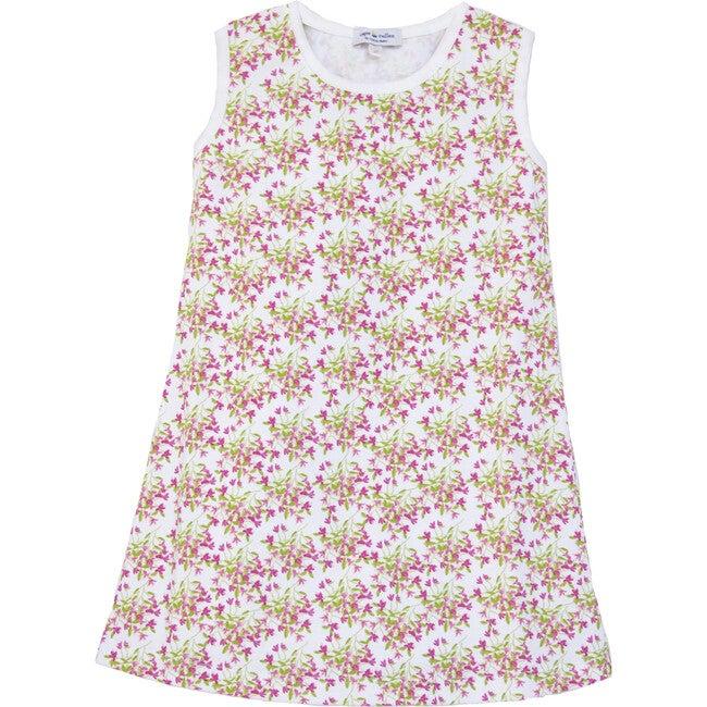 Bougainvillea Print Pima Cotton Dress - Dresses - 1