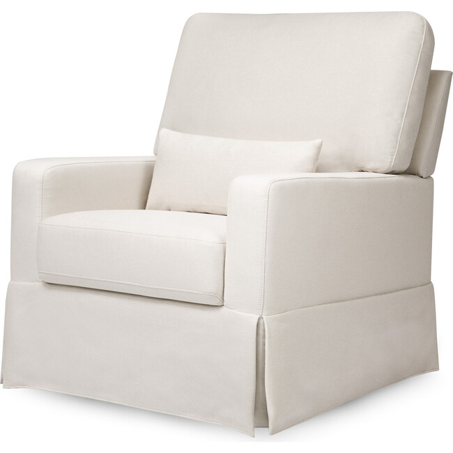 Crawford Pillowback Comfort Swivel Glider, Performance Cream Eco-Weave