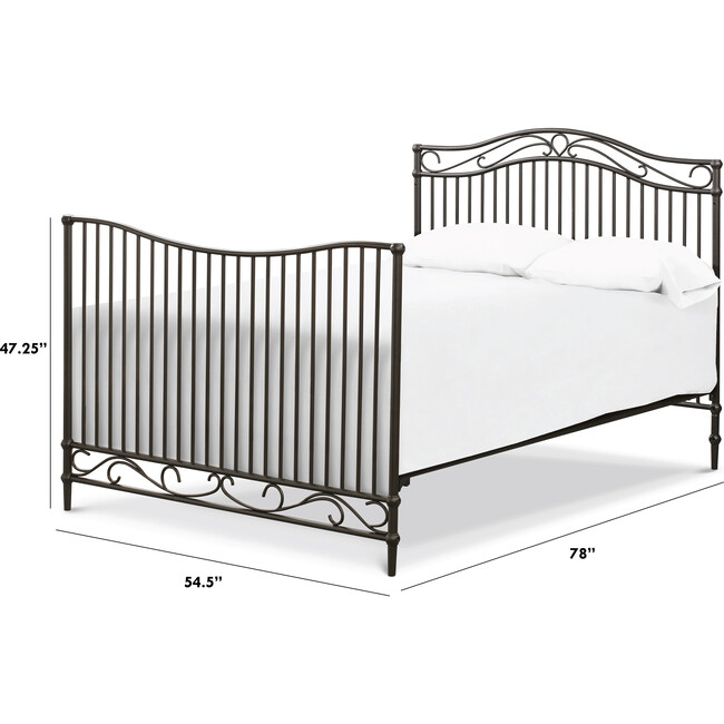 Noelle Full Size Bed Conversion Kit, Vintage Iron