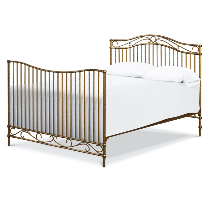 Noelle Full Size Bed Conversion Kit, Vintage Gold