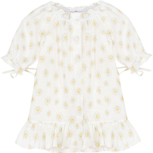 White Linen Petit Dress, Daisies