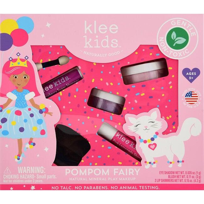 PomPom Fairy 4-Piece Natural Play Makeup Kit with Loose Powder Makeup