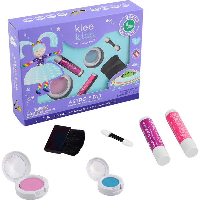 Astro Star 4-Piece Natural Play Makeup Kit with Pressed Powder Compacts