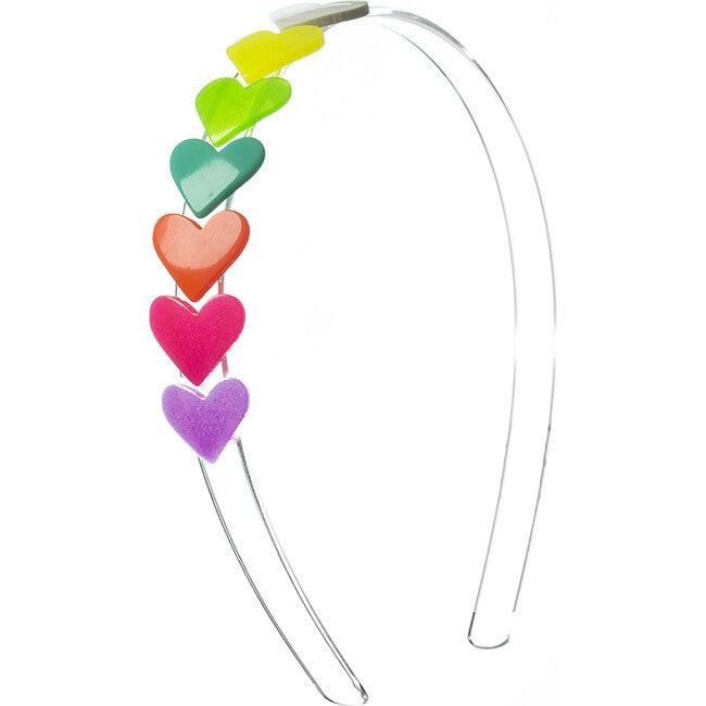 Hearts Headband, Neon - Hair Accessories - 1