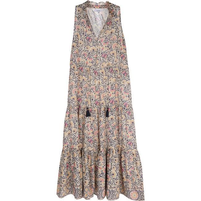Women's Maxi Dress, Italian Camel