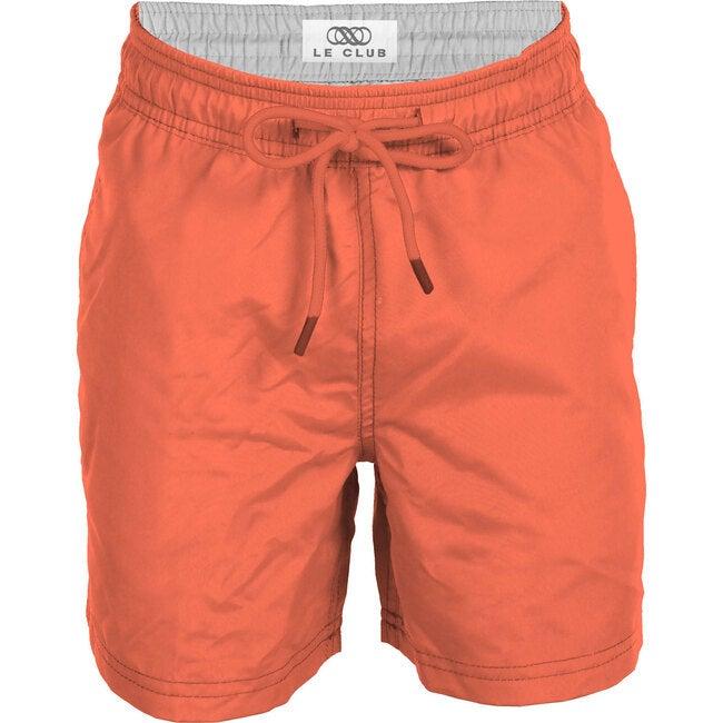 Neon Orange Boys Swim Trunks - Swim Trunks - 1