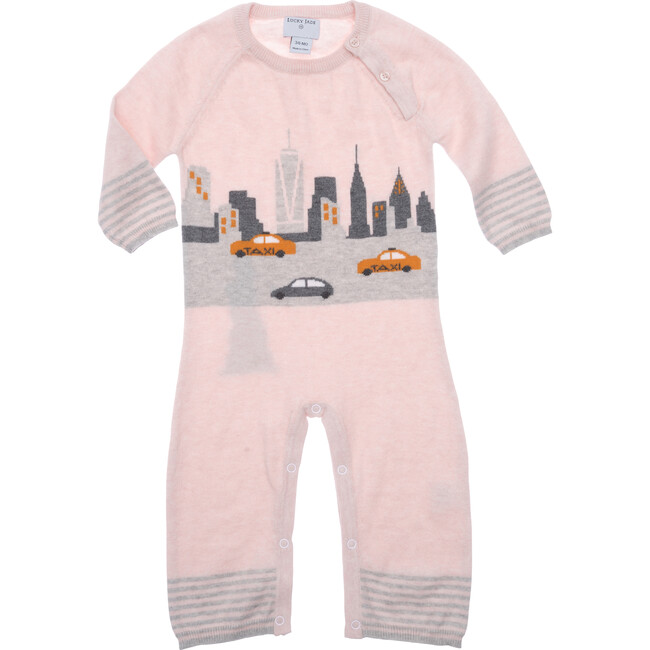 New York City Cotton Cashmere Coverall, Pink