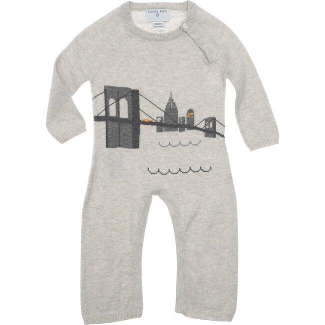 Brooklyn Bridge Cotton Cotton Cashmere Coverall, Grey