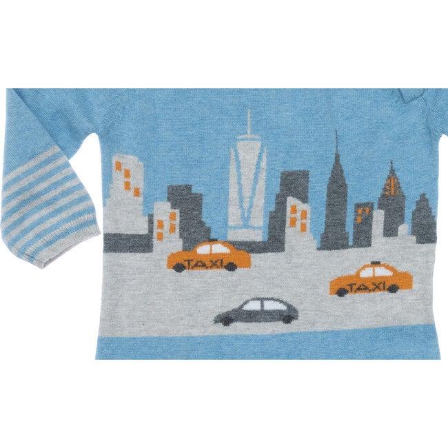 New York City Cotton Cashmere Coverall, Blue