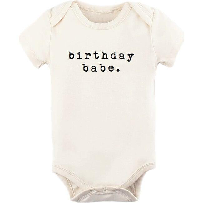Birthday Babe Short Sleeve Onesie, Black
