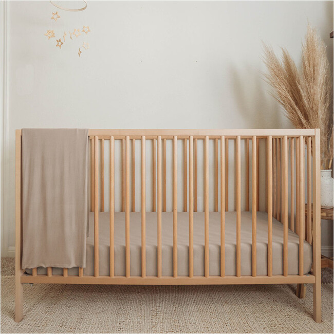 Bamboo Fitted Cribsheet, Sand