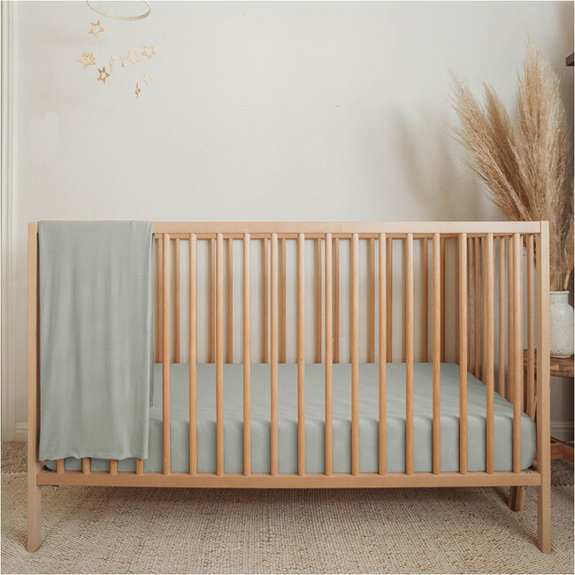 Bamboo Fitted Cribsheet, Sage