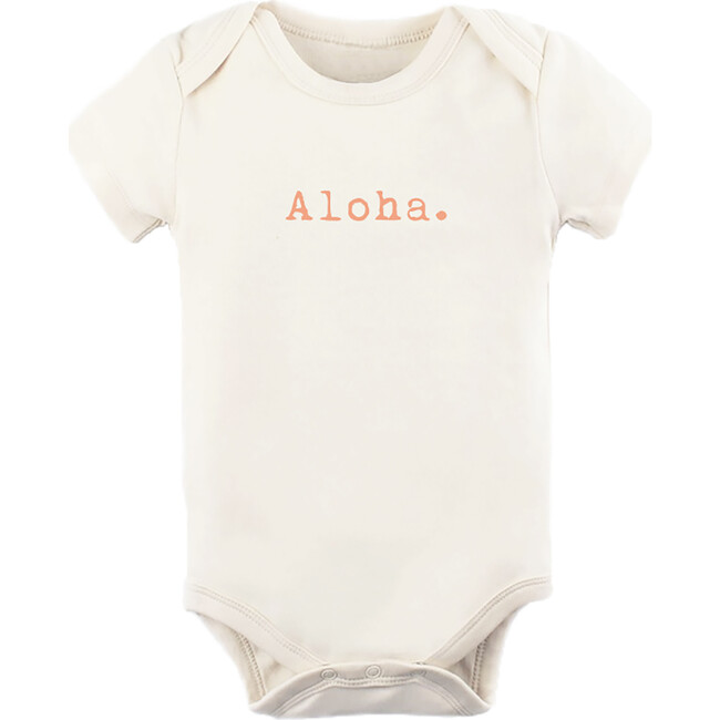 Aloha Short Sleeve Onesie, Coral