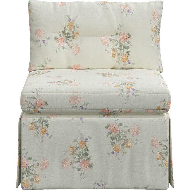 Octavia Armless Chair, Dancing Dahlia Yellow