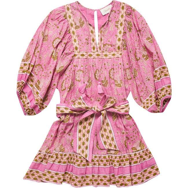 Women's Magdalena Mini Dress, Wildflower Print - Dresses - 1