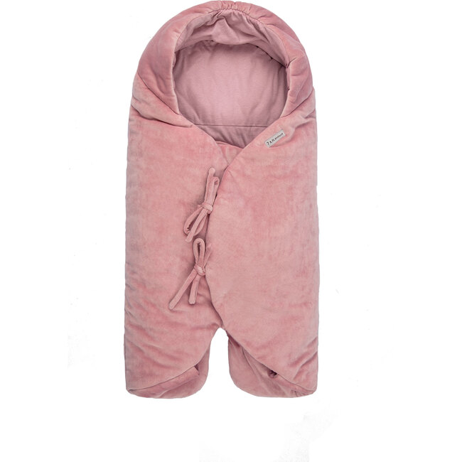 Nido Mild Climate Wrap, Pink Velour - Stroller Accessories - 1