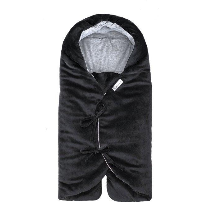 Nido Mild Climate Wrap, Black Velour - Stroller Accessories - 1