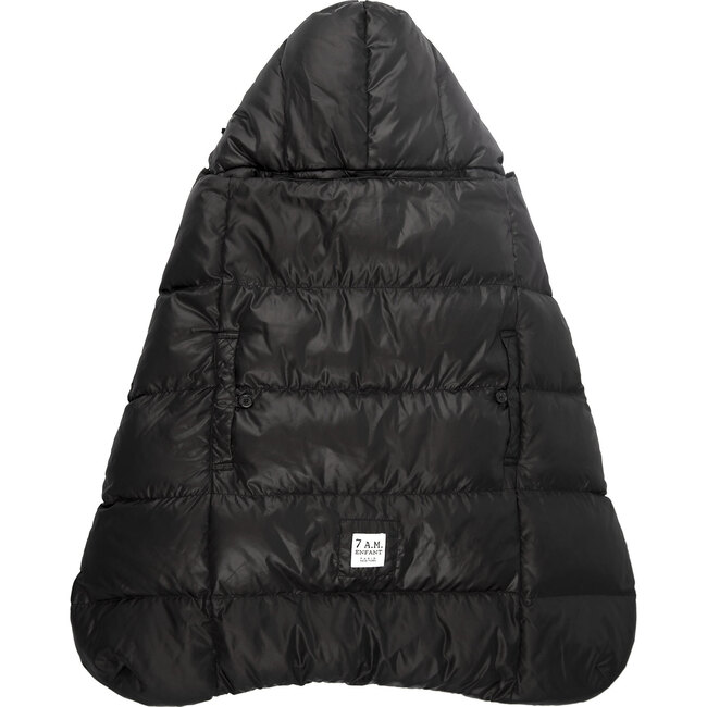 K-Poncho Heavyweight Carrier Cover, Black Plush