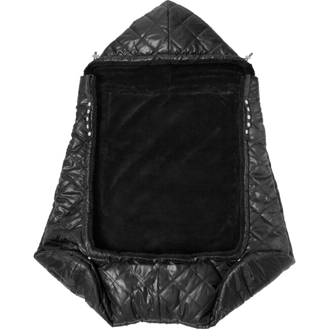 K-Poncho Carrier Cover, Black Plush