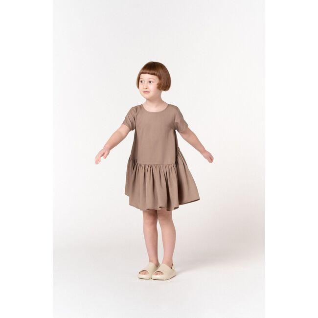 Hi-Low Drop Waist Dress, Mocha