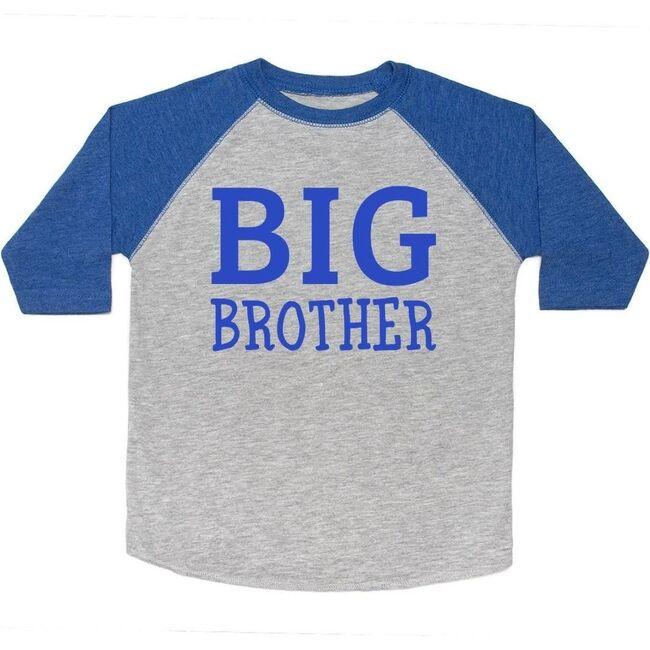 Big Brother Long Sleeve Shirt, Heather & Royal