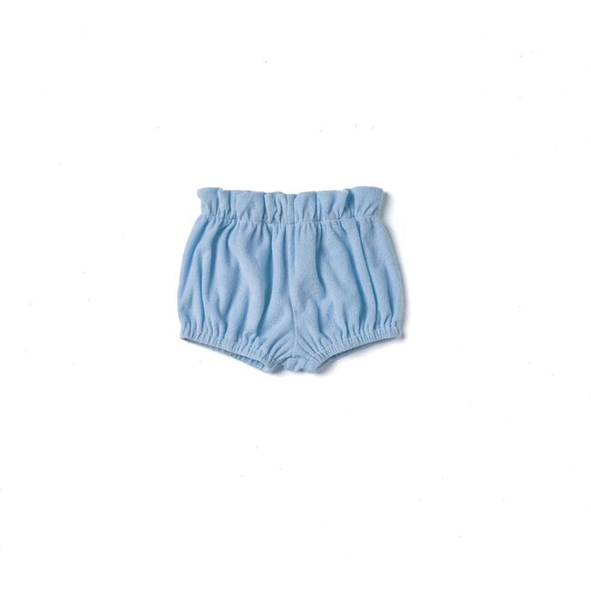 Baby Terry Cloth Bloomers, Blue - Bloomers - 1