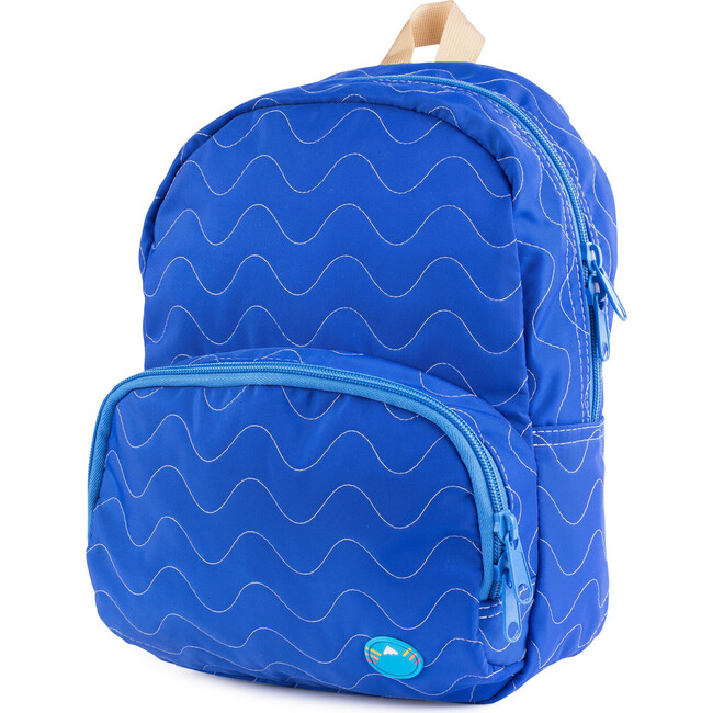 Quilted Mini Backpack, Royal - Bags - 1