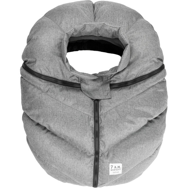 Car Seat Cocoon, Heather Grey - Car Seat Accessories - 1