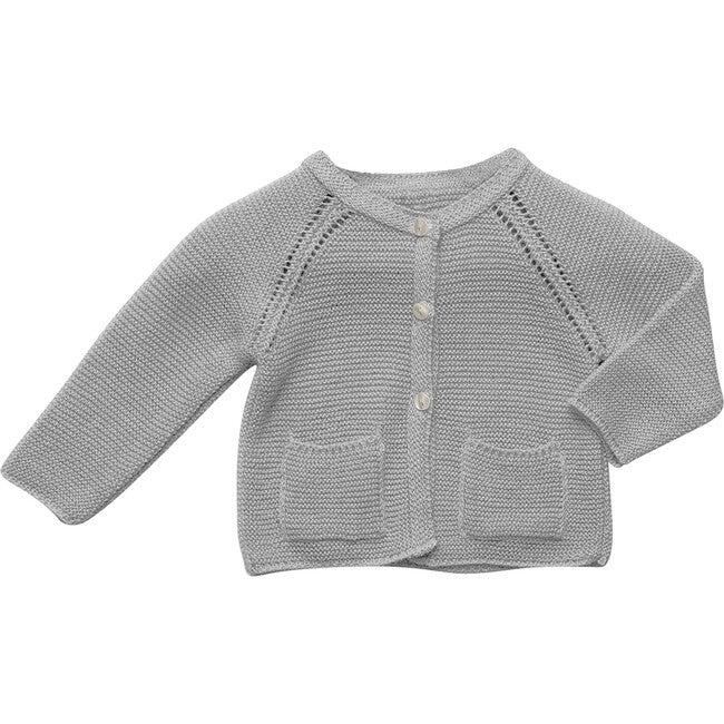 Pocket Knit Cardigan, Grey