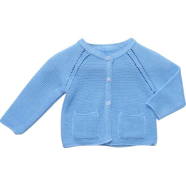 Pocket Knit Cardigan, Blue