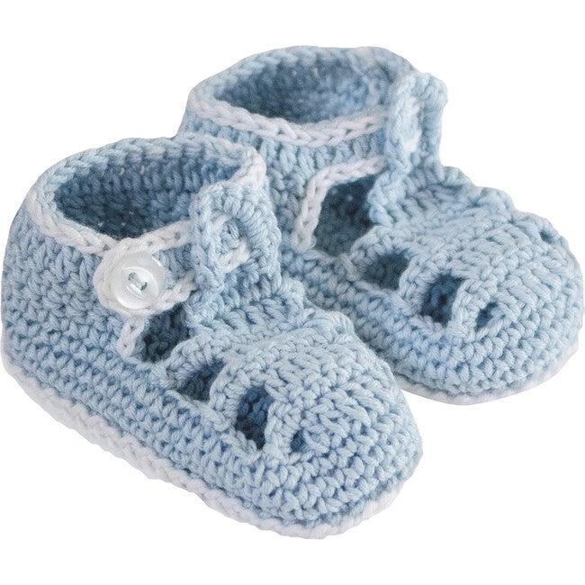 T-Strap Knitties, Blue