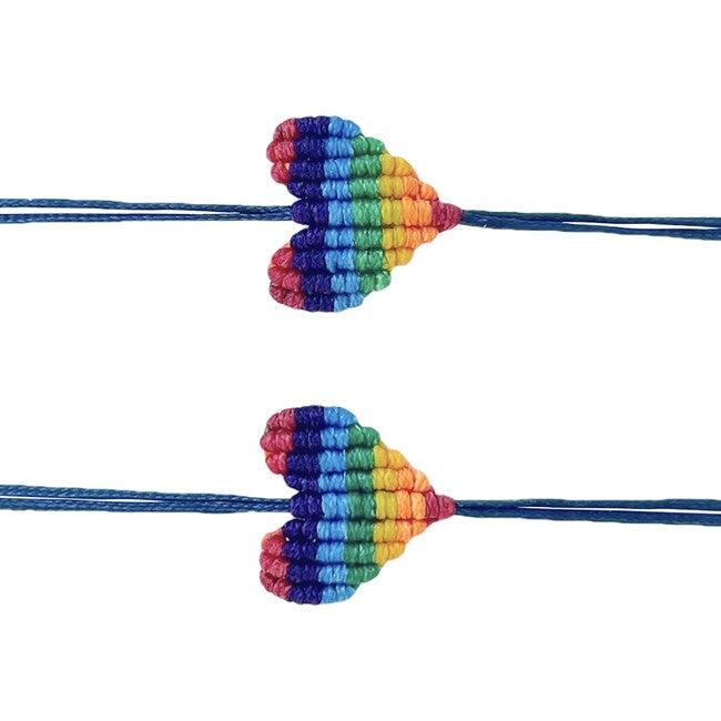 Mommy & Me Set: Rainbow Heart Bracelets