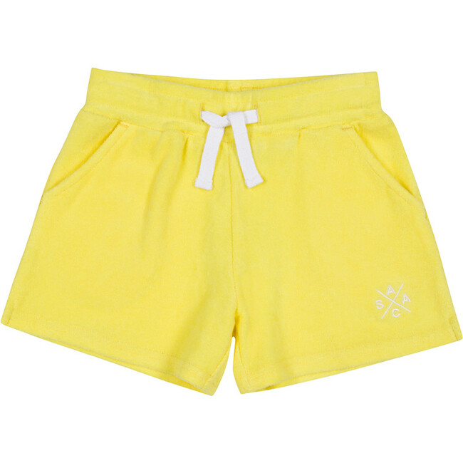 Women's Andy Cohen Yellow Terry Toweling Shorts