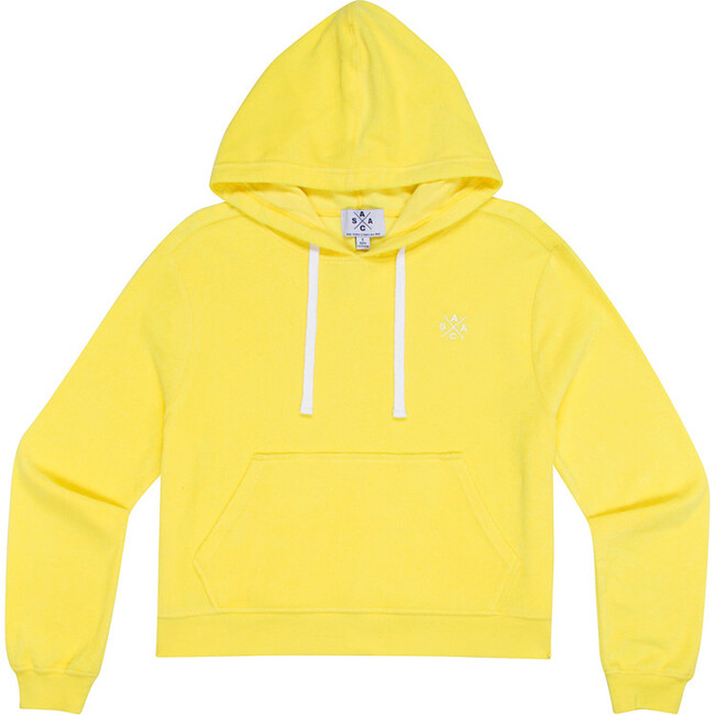 Women's Andy Cohen Yellow Terry Toweling Hoodie