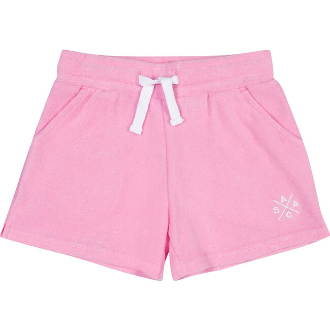 Women's Andy Cohen Pink Terry Toweling Shorts