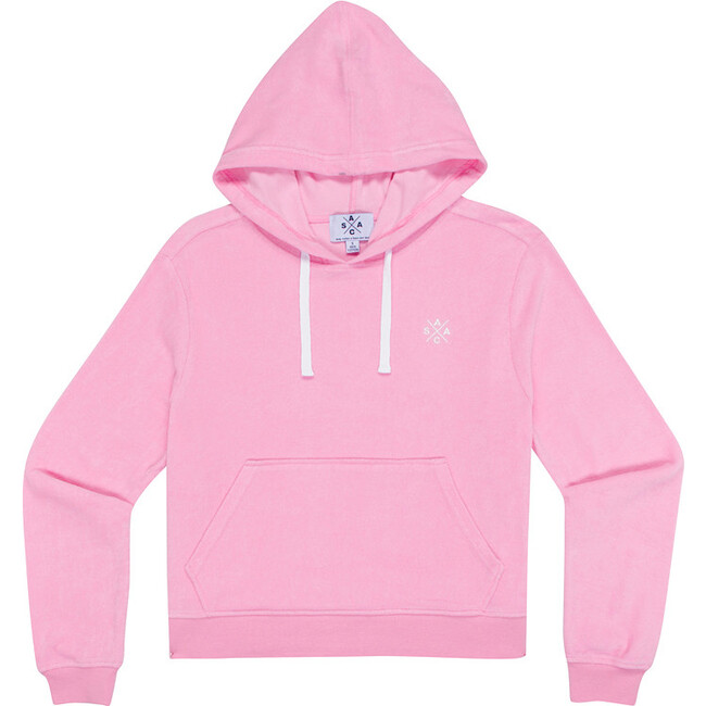 Women's Andy Cohen Pink Terry Toweling Hoodie