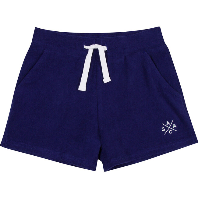 Women's Andy Cohen Navy Terry Toweling Shorts