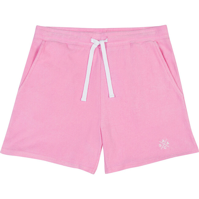 Men's Andy Cohen Pink Terry Toweling Shorts