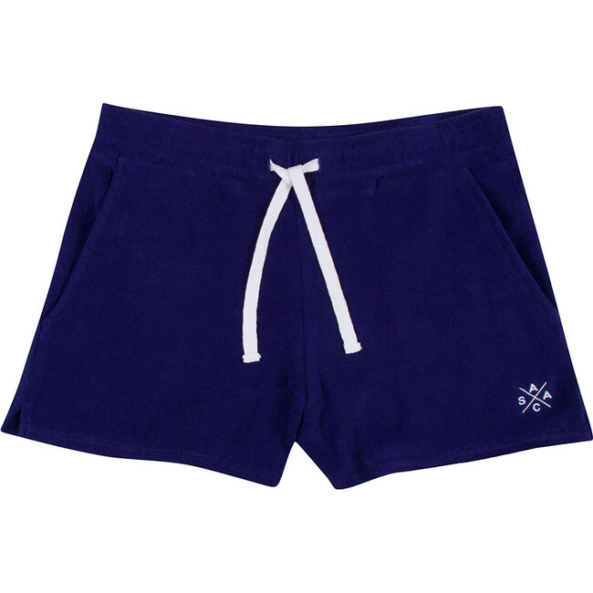 Kid's Andy Cohen Navy Terry Toweling Shorts