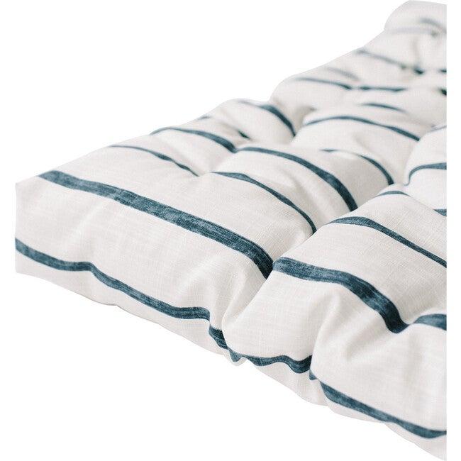 Padded Play Mattress, Blue Stripe