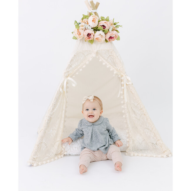 Itty Bitty Lace Play Tent, Cream