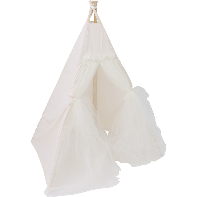 Chrissy Play Tent, Cream Tulle