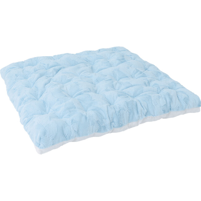 Cuddle Faux Fur Padded Play Mattress, Blue