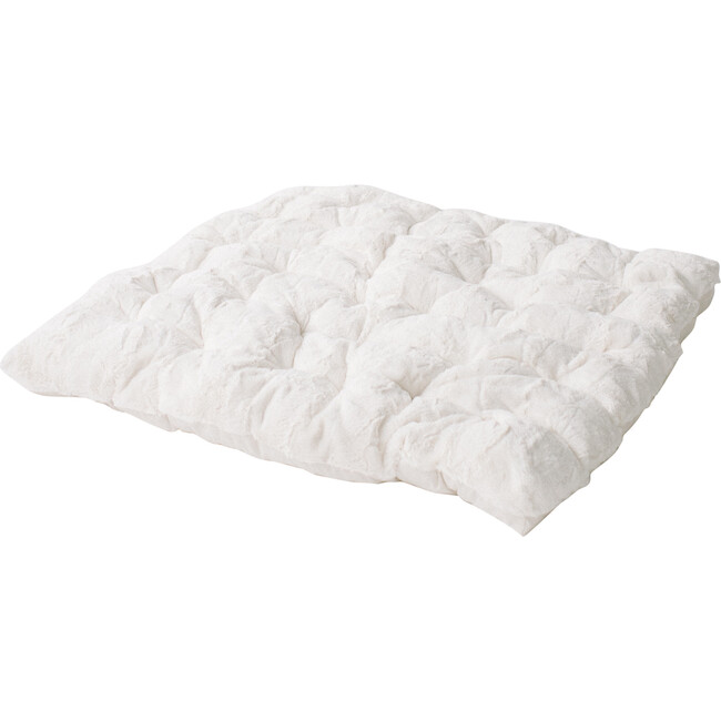 Deluxe Padded Play Mattress, Ivory Cuddle Faux Fur