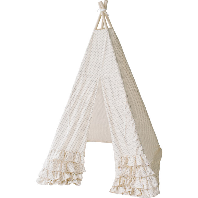 Colette Play Tent, Cream Swiss Dot - Teepees - 1