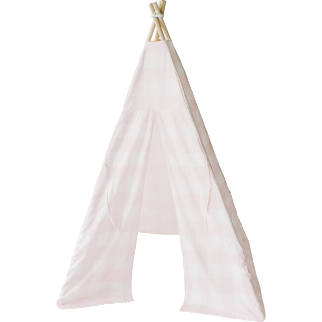 Cecile Play Tent, Pink Gingham - Teepees - 1