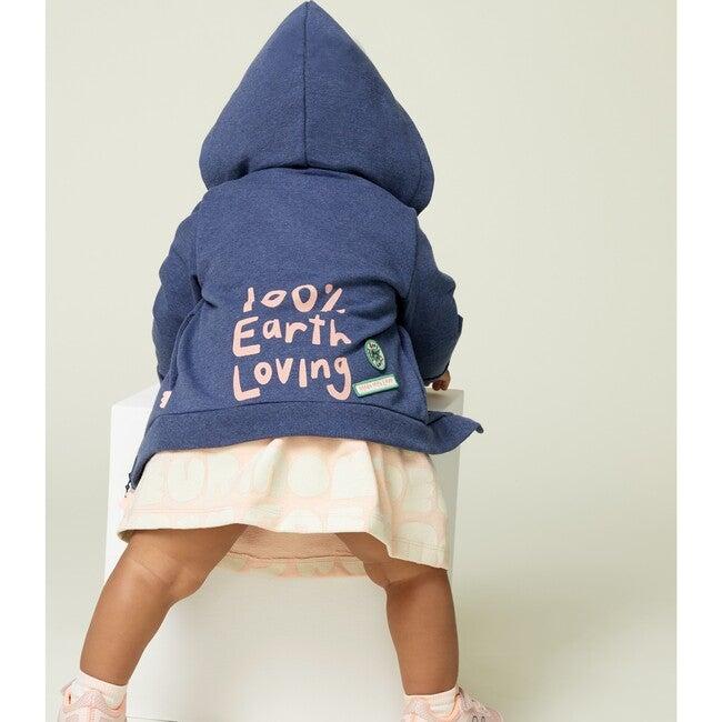 Zipped Hoodie, Blue